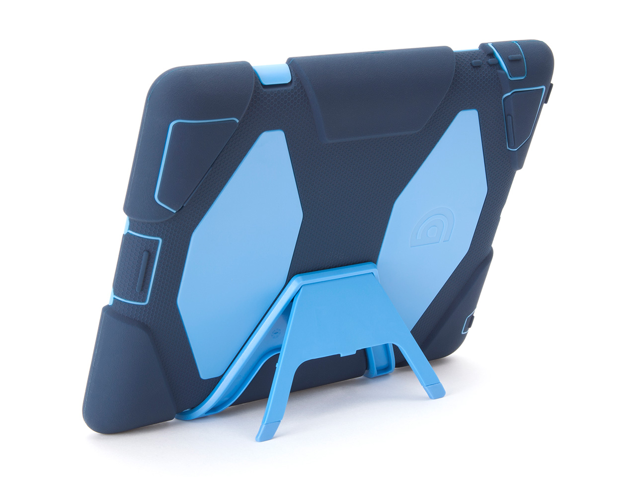 Navy/Cornflower Survivor All-Terrain Case + Stand for iPad 2