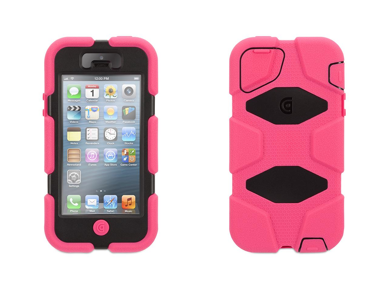 Pink/Black Heavy Duty Survivor All-Terrain Case for iPhone 5/5s