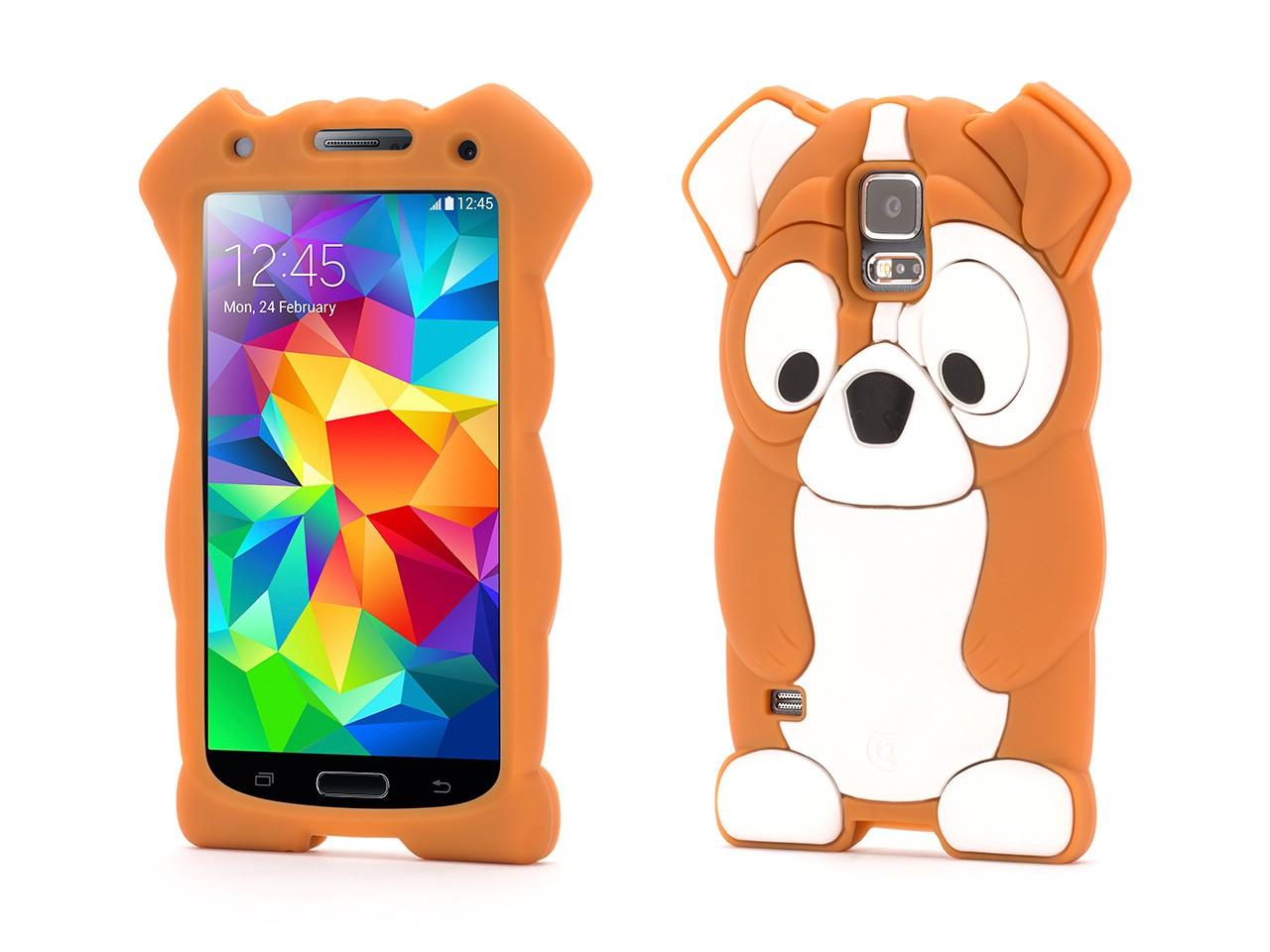 Samsung Galaxy S5 Protective Case KaZoo Protective Animal Case - Bull Dog