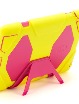 Citron/Pink Survivor All-Terrain Case + Stand for iPad 2