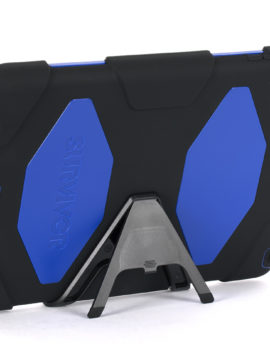 Black/Blue Survivor All-Terrain Case + Stand for iPad Air