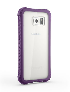 Purple/Clear Survivor Core Clear Protective Case for Samsung Galaxy S6