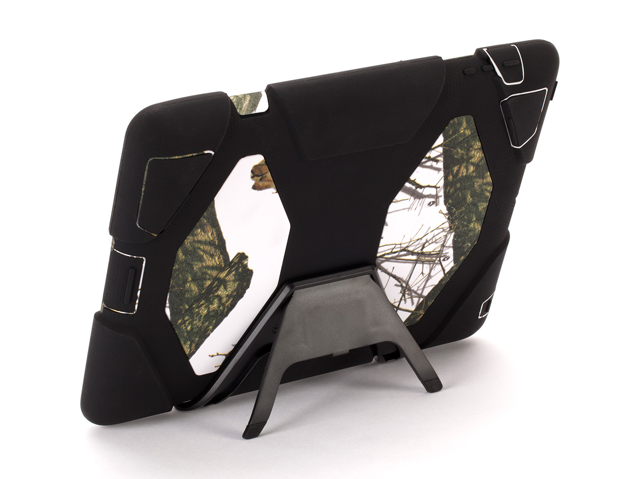 Winter/Black Survivor All-Terrain in Mossy Oak Camo + Stand for iPad 2