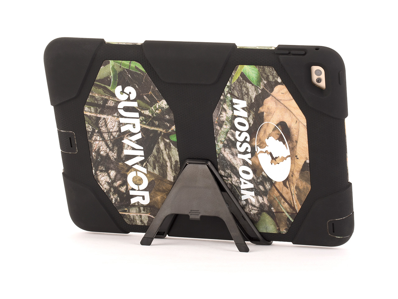 Obsession/Black Survivor All-Terrain in Mossy Oak� Camo + Stand for iPad Air 2