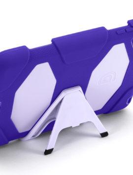 Purple/Lavender Survivor All-Terrain Case + Stand for iPad mini