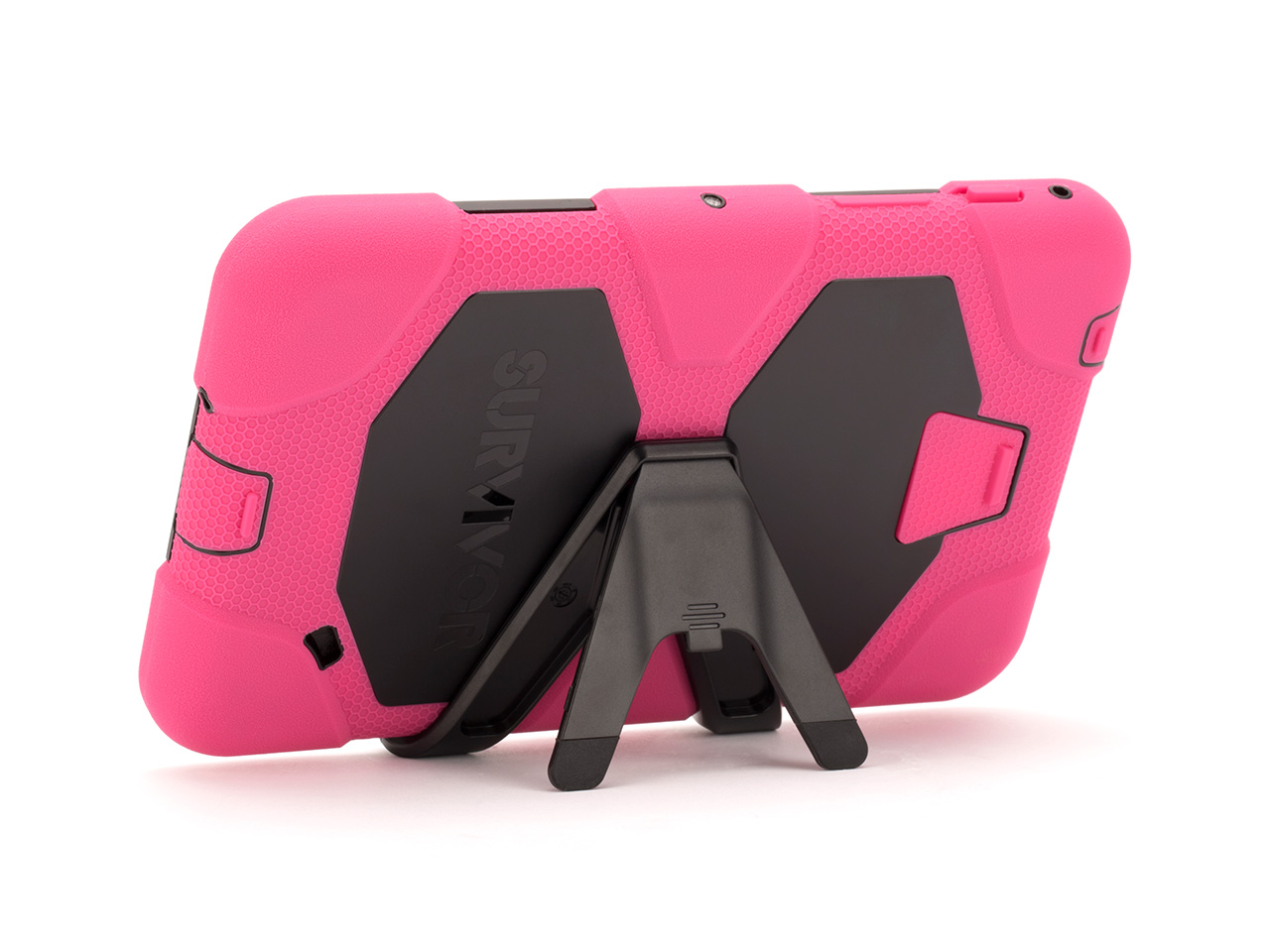 Pink/Black Survivor All-Terrain Case + Stand for Samsung Galaxy Tab 4 7.0