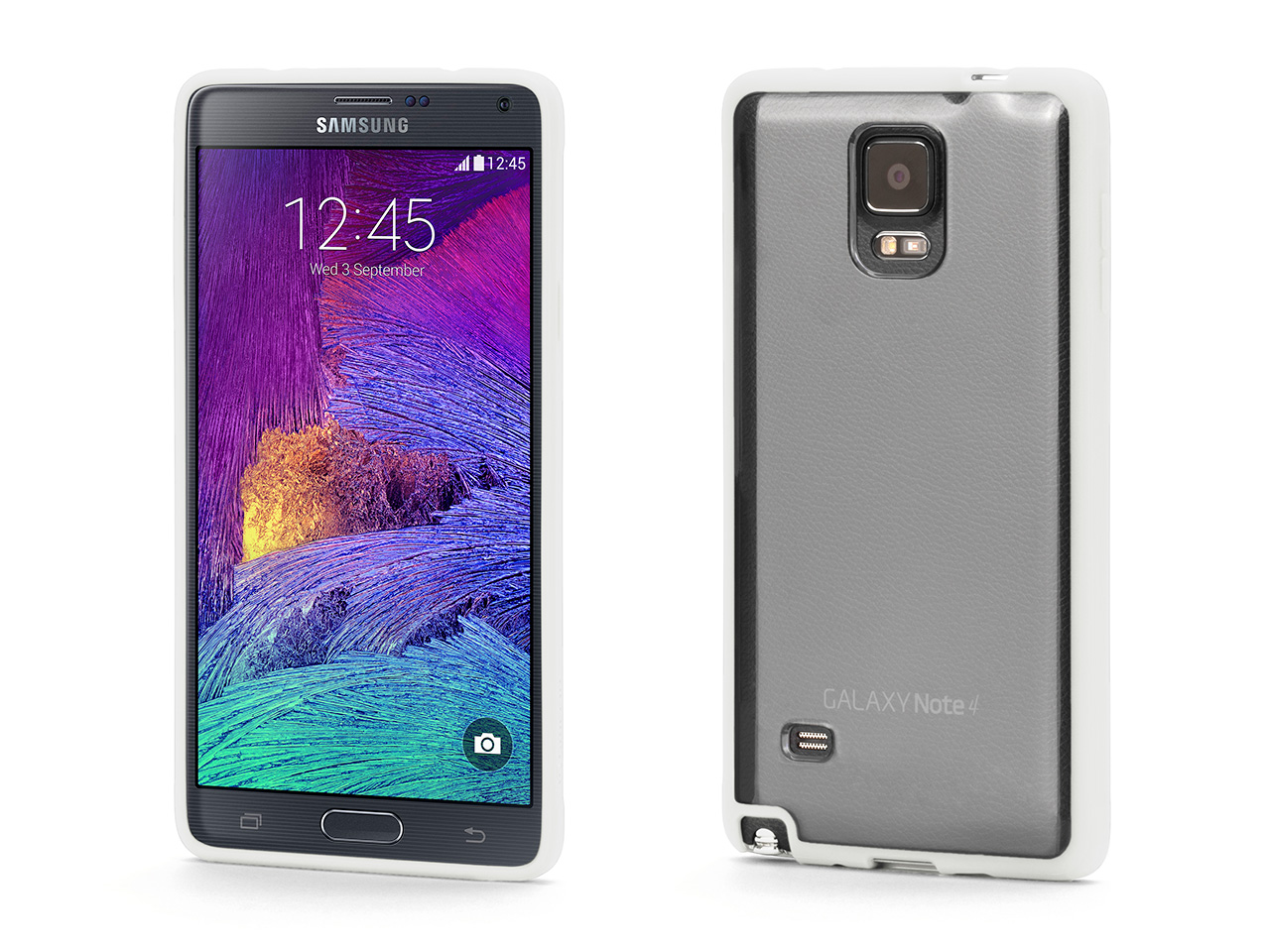 Reveal Clear Protective Case for w/ White Trim for Samsung Galaxy Note 4