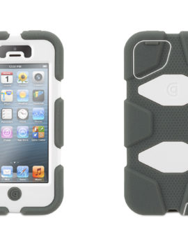 Grey/White Heavy Duty Survivor Case for iPhone 5/5s