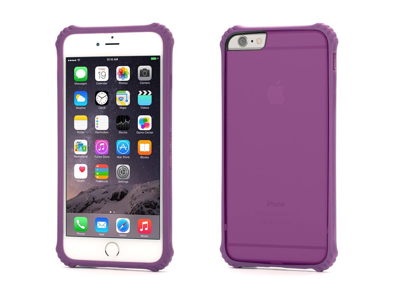 Griffin iPhone 6s Plus/6 Plus Survivor Core Clear Case - Polycarbonate Back - Purple Bumper