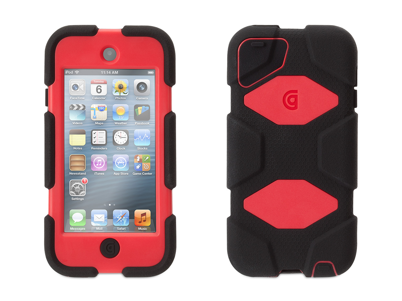 Black/Red Survivor All-Terrain Case + Belt Clip for iPod touch (5th/ 6th gen.)