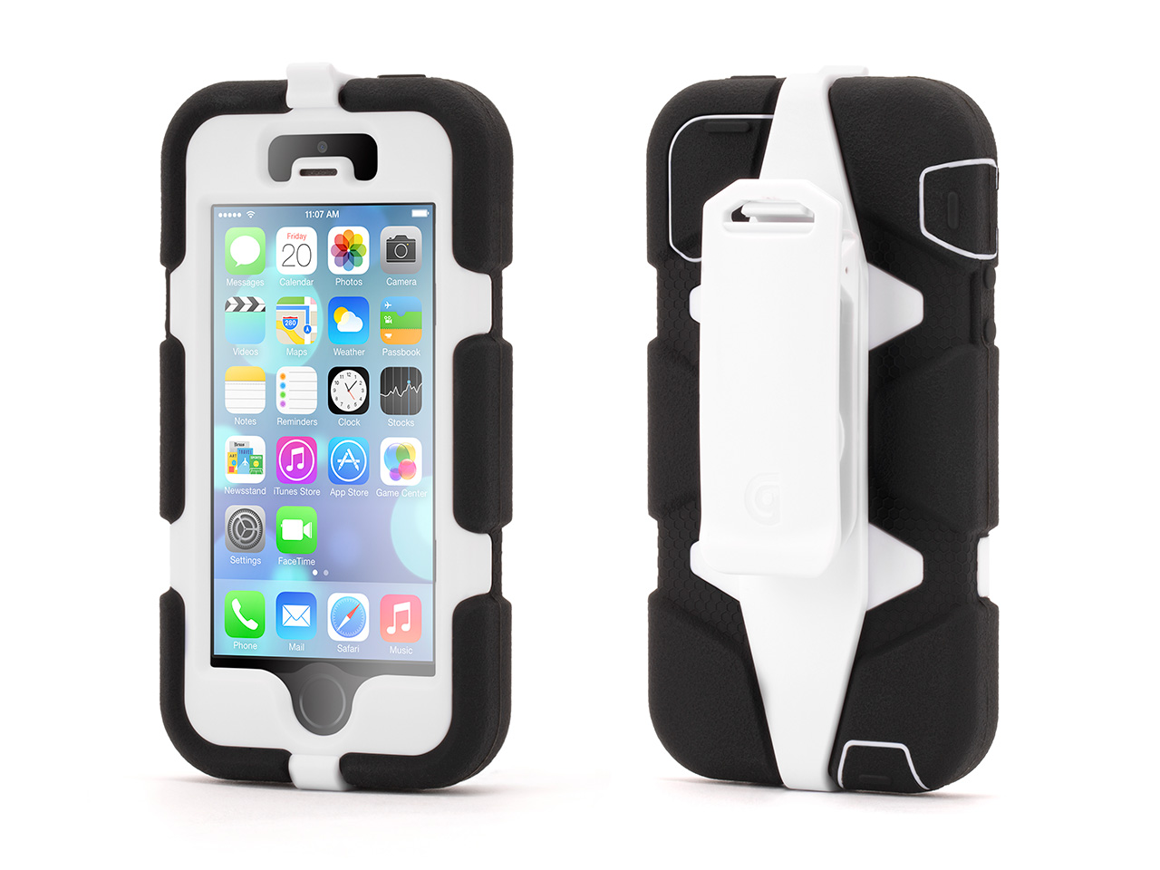Black/White Survivor All-Terrain Case for iPhone 5/5s