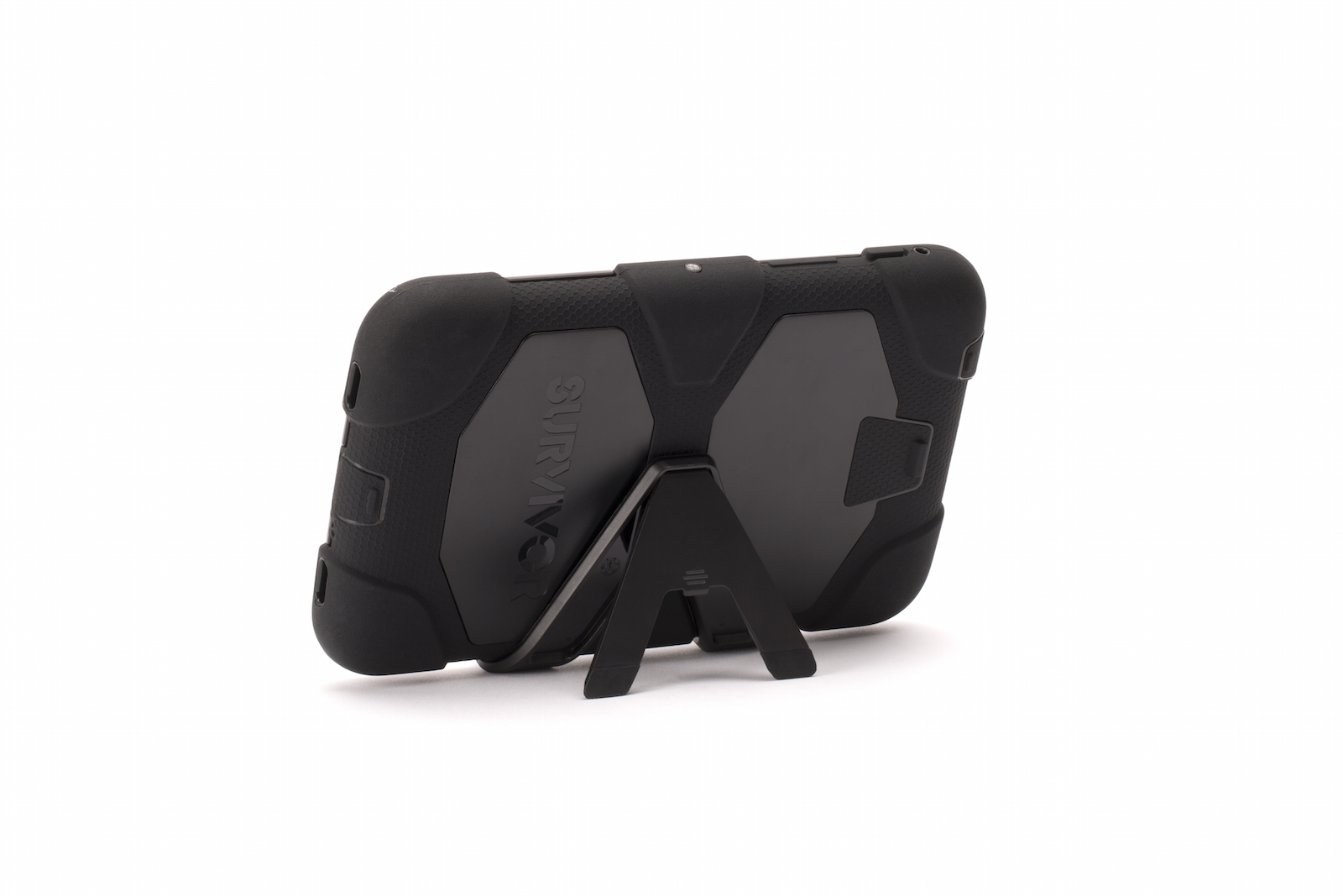 "Black Survivor All-Terrain Case + Stand for Samsung 7"" Galaxy Tab 3"