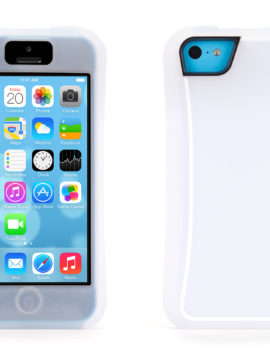 Clear/White Survivor Slim Protective Case  for iPhone 5c