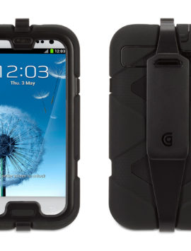Black Heavy Duty Survivor All-Terrain Case with Belt Clip for Samsung Galaxy SIII