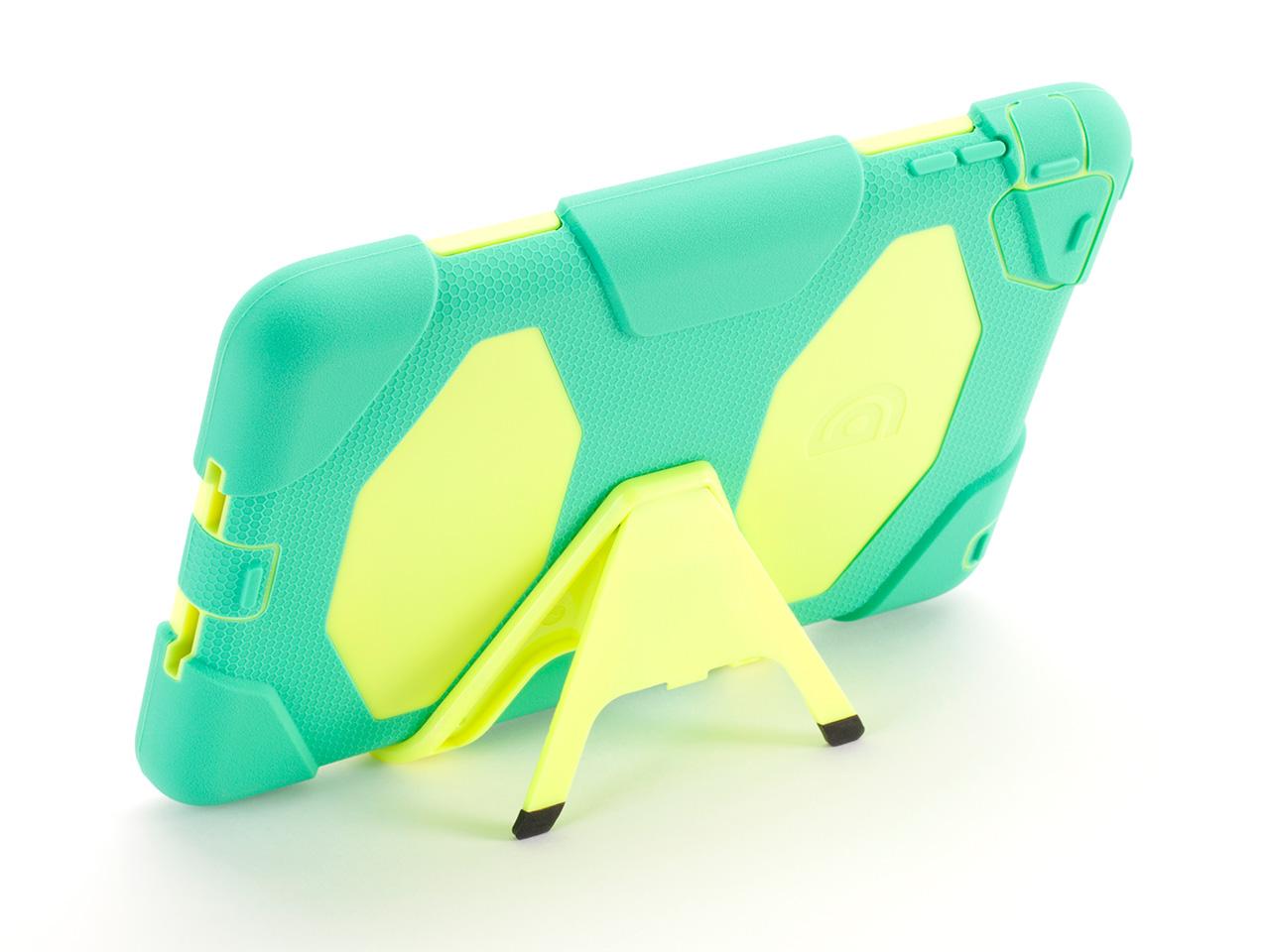 Green/Yellow Survivor All-Terrain Case + Stand for iPad mini