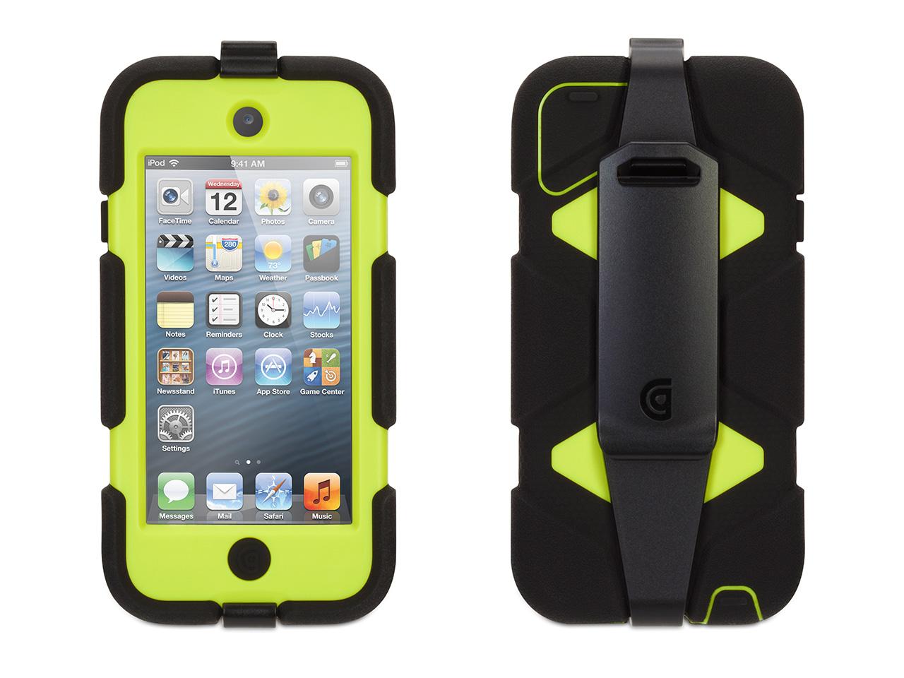 Black/ Citron Survivor Case + Belt Clip for iPod touch (5th/ 6th gen.)