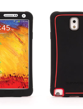 Black/ Red Survivor Slim Protective Case for Samsung Galaxy Note 3