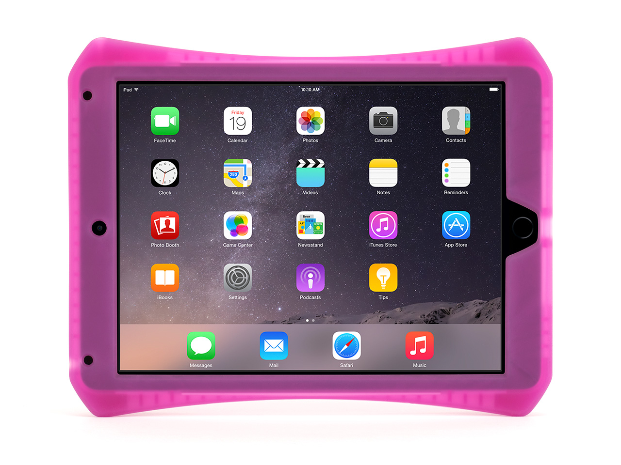 Hot Pink Survivor CrossGrip Protective Gaming Case for iPad Air 2
