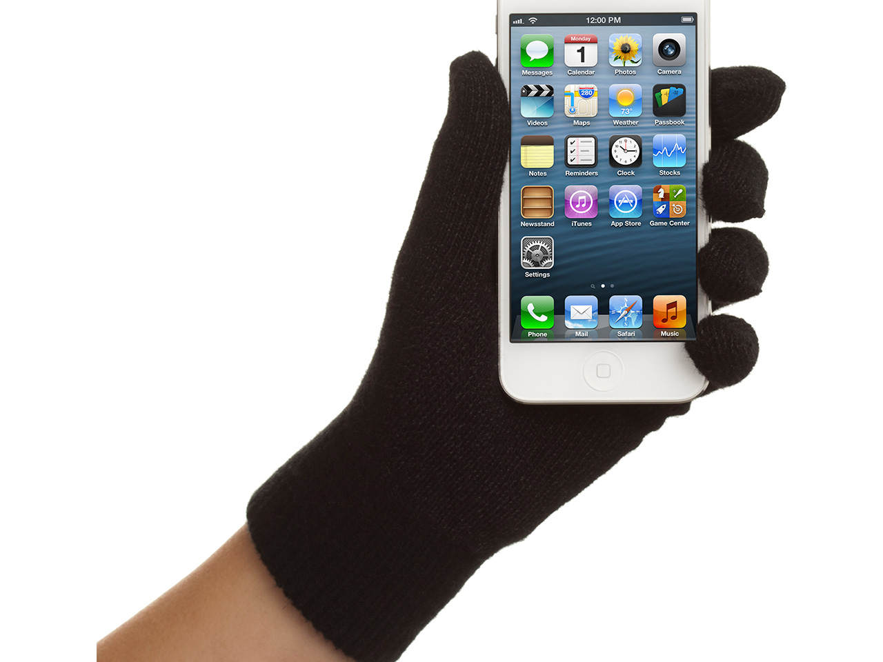 Black TapPinchZoom Touchscreen Gloves for Mobile & Tablet devices