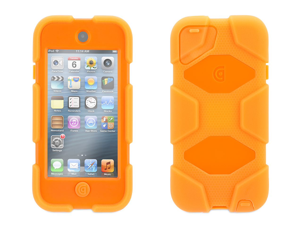 Neon Orange Survivor Case + Belt Clip for iPod touch (5th/ 6th gen.)