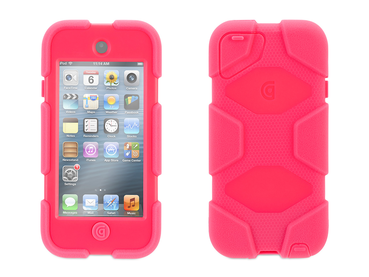 Hot Pink Survivor Case + Belt Clip for iPod touch (5th/ 6th gen.)