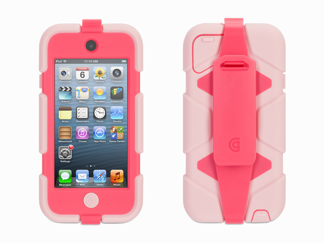 Pink/Hot Pink Survivor All-Terrain Case + Belt Clip for iPod touch (5th/ 6th gen.)