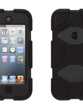 Black/ Black Heavy Duty Survivor Case with belt clip for iPod touch (5th/ 6th gen.)