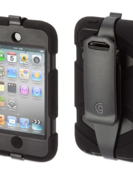 Black Heavy Duty Survivor All-Terrain Case for iPod touch 4th Gen.