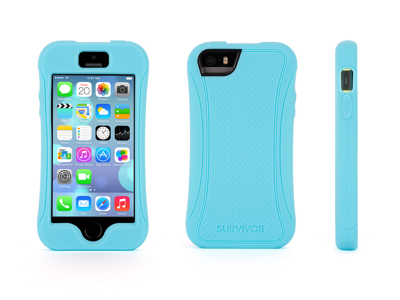 Turquoise Survivor Slim Protective Case for iPhone 5/5s