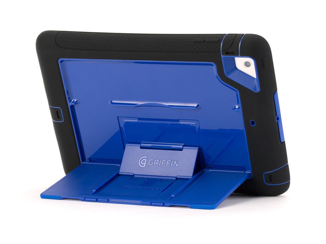 Black/Blue Survivor Slim Case + Stand for iPad mini