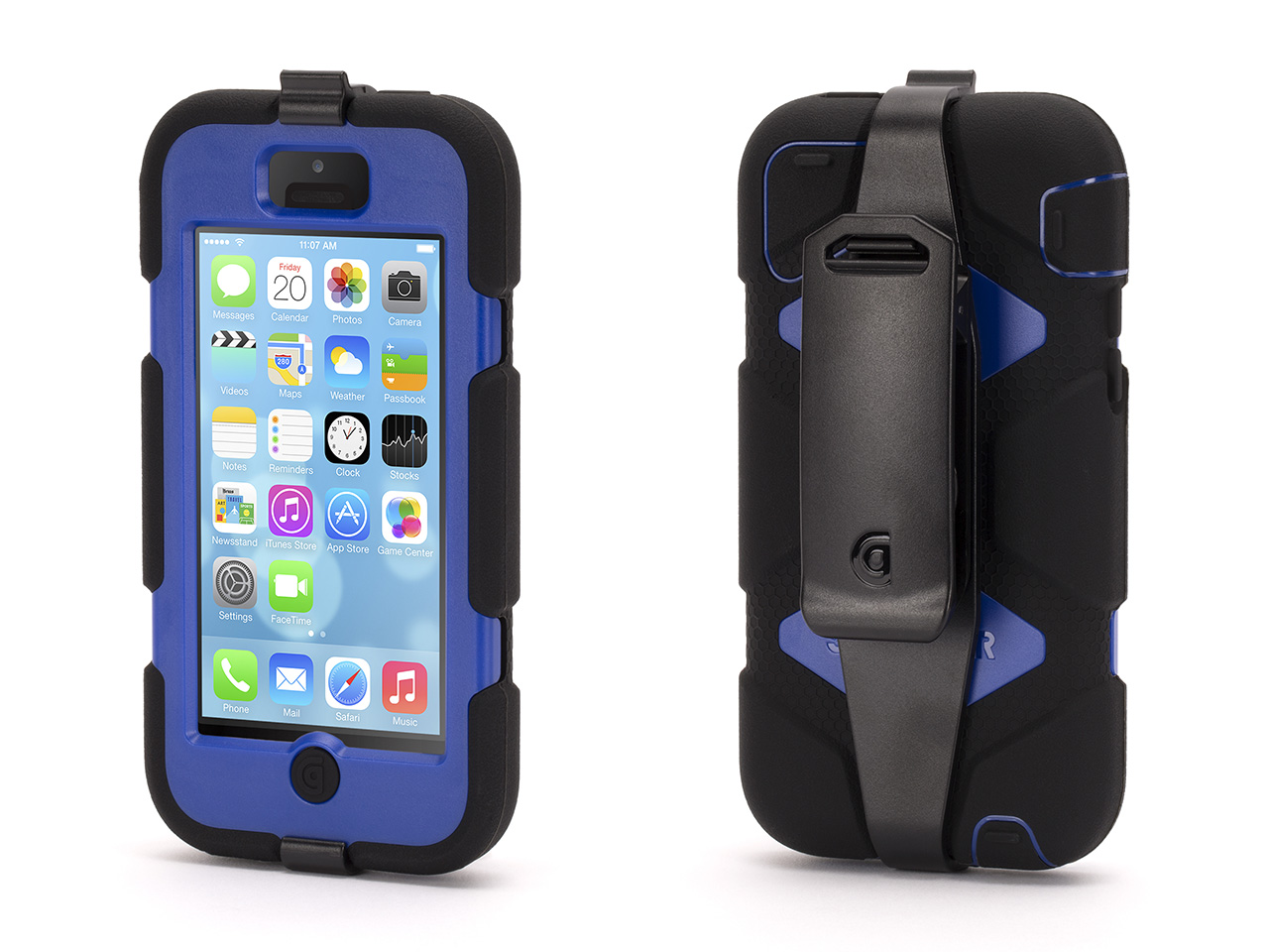 Black/Blue Survivor All-Terrain Case for iPhone 5c