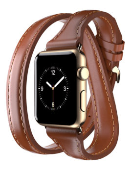 Apple Watch 38mm Leather Band Uptown Double-Wrap Band Toffee