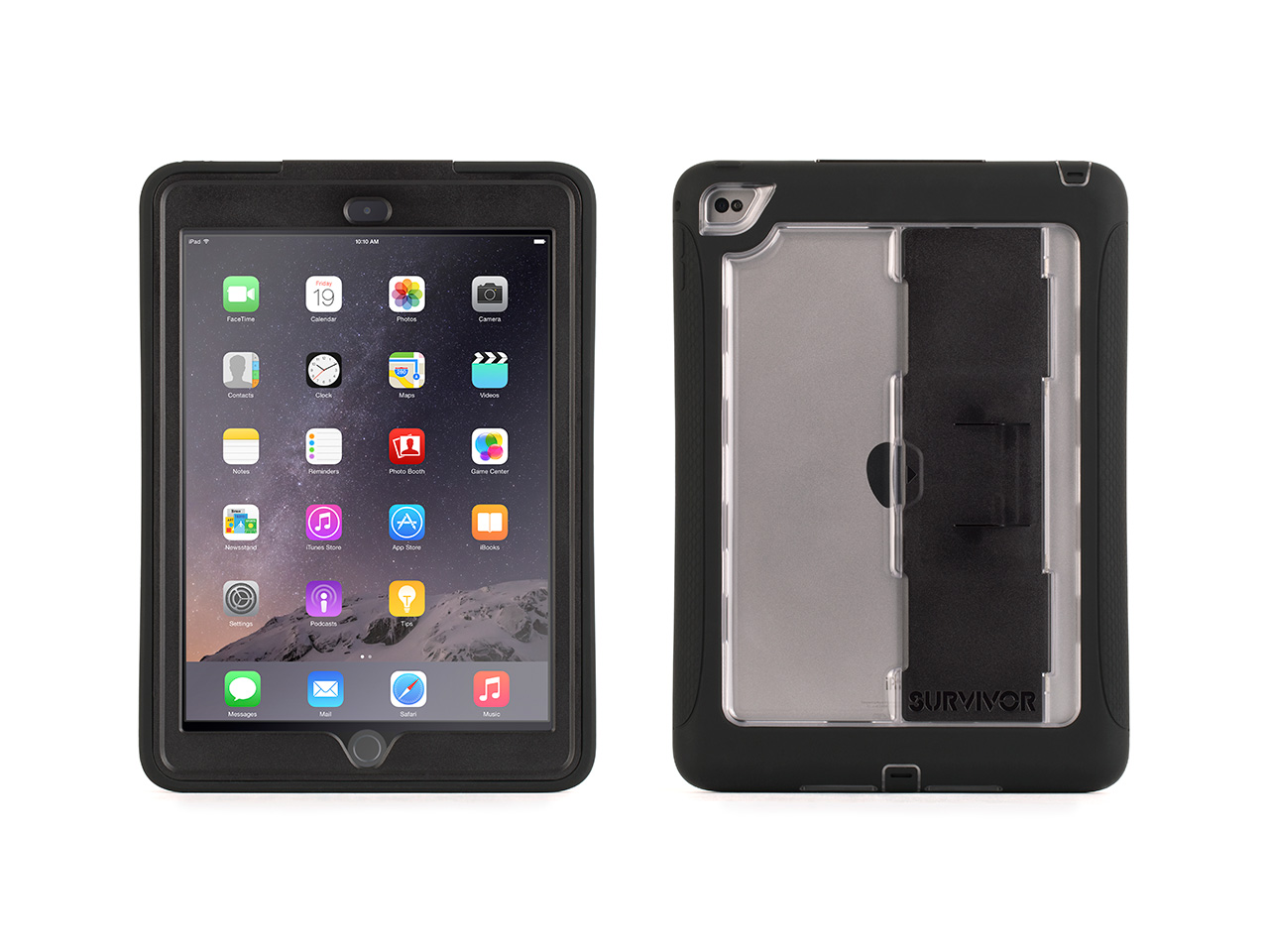 Black/Clear Survivor Slim Protective Case for iPad Air 2