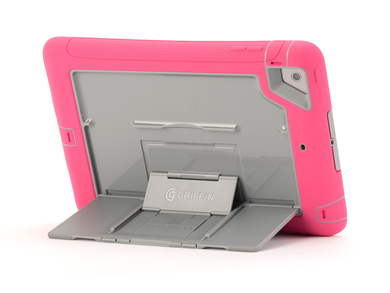 Pink/Grey Survivor Slim Case + Stand for iPad mini