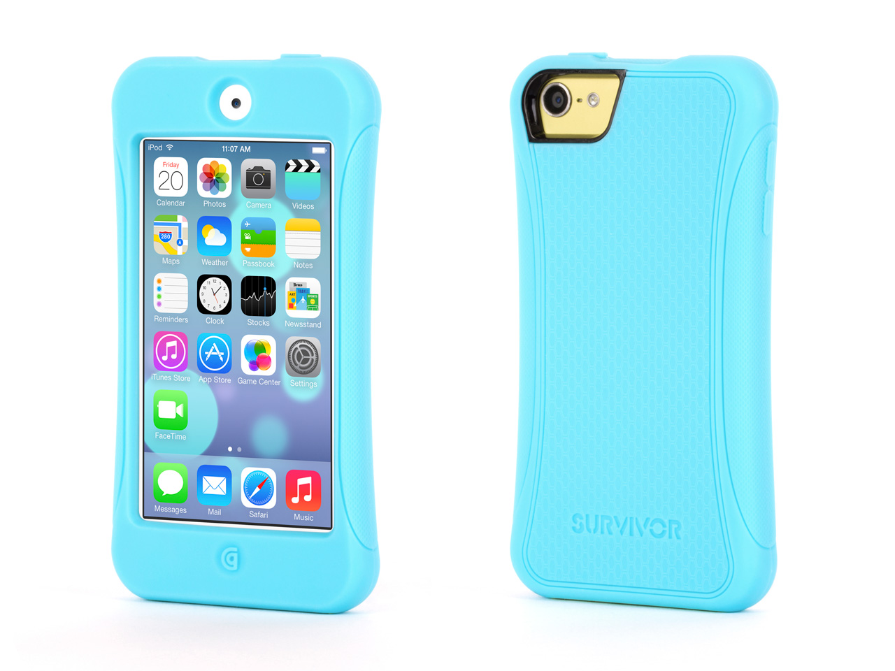 Turquoise Survivor Slim Protective Case for iPod touch (5th/ 6th gen.)