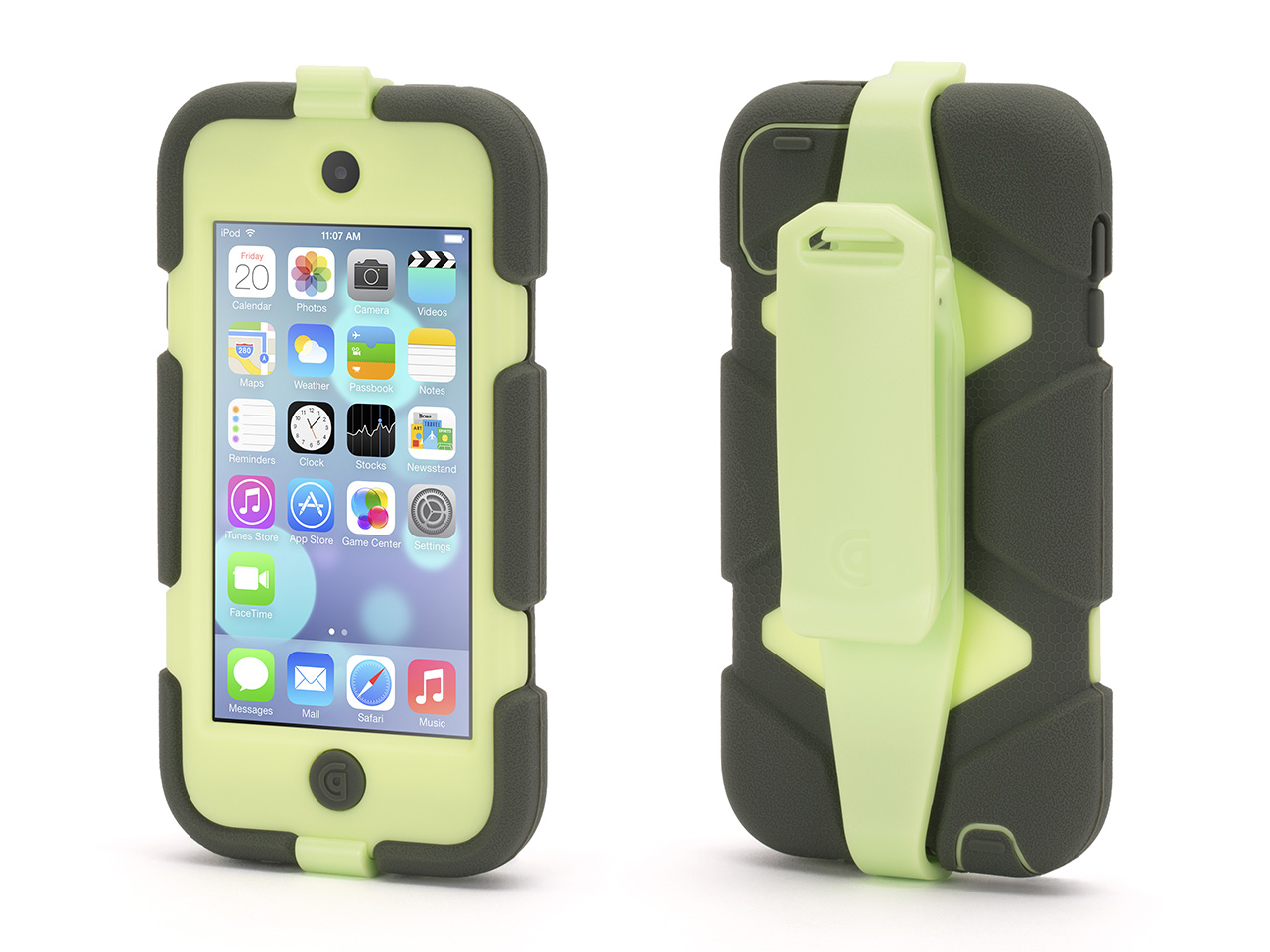 Olive/Lime Survivor All-Terrain Case + Belt Clip for iPod touch (5th/ 6th gen.)
