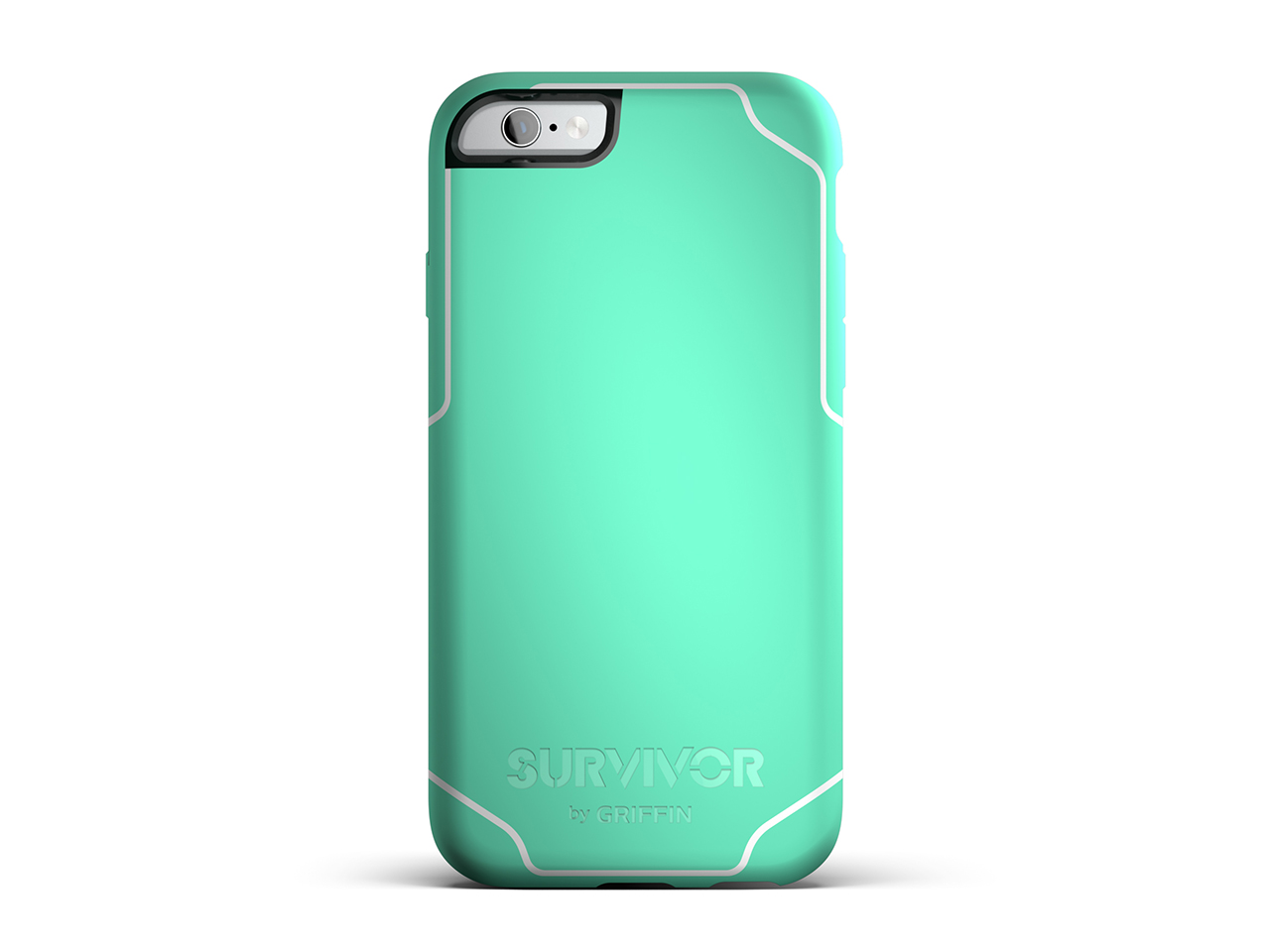 Mint/White Survivor Journey for iPhone 6/6s Protective Case - 6ft Drop Protection