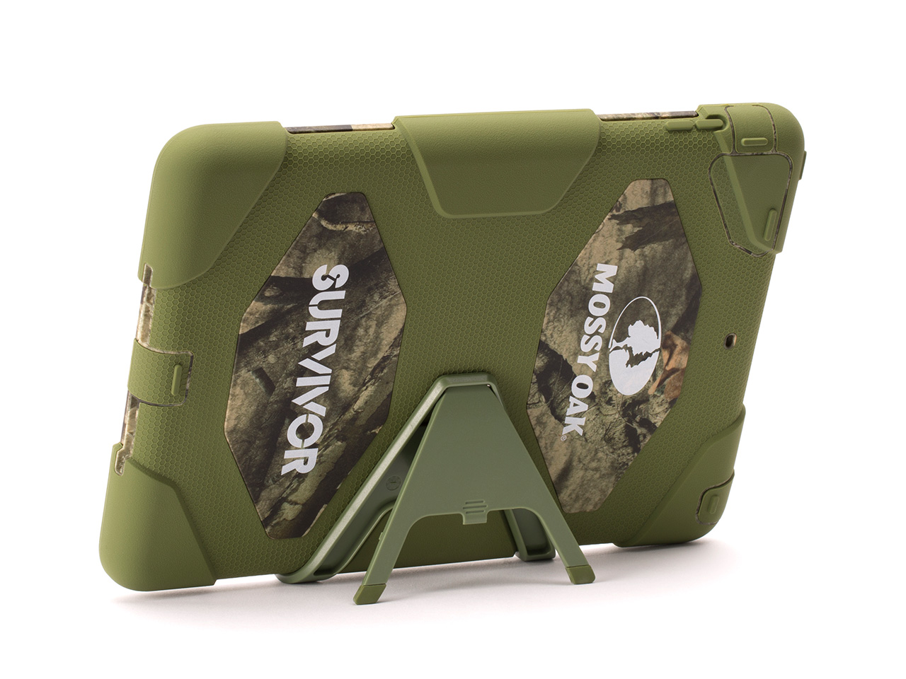 Treestand/Green Survivor All-Terrain in Mossy Oak Camo + Stand for iPad Air