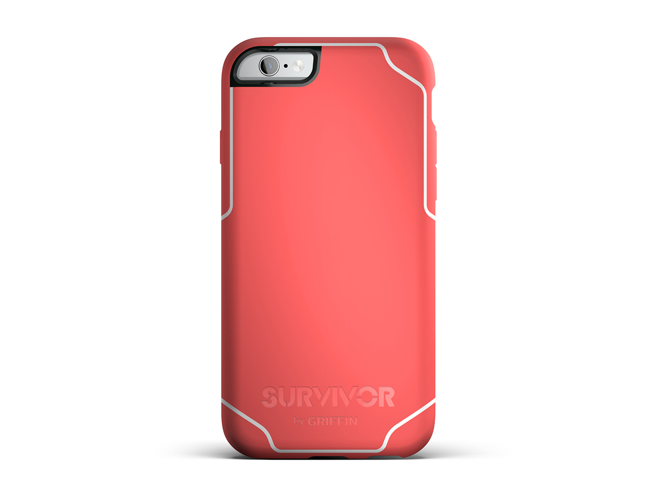 Coral/White Survivor Journey for iPhone 6/6s Protective Case - 6ft Drop Protection