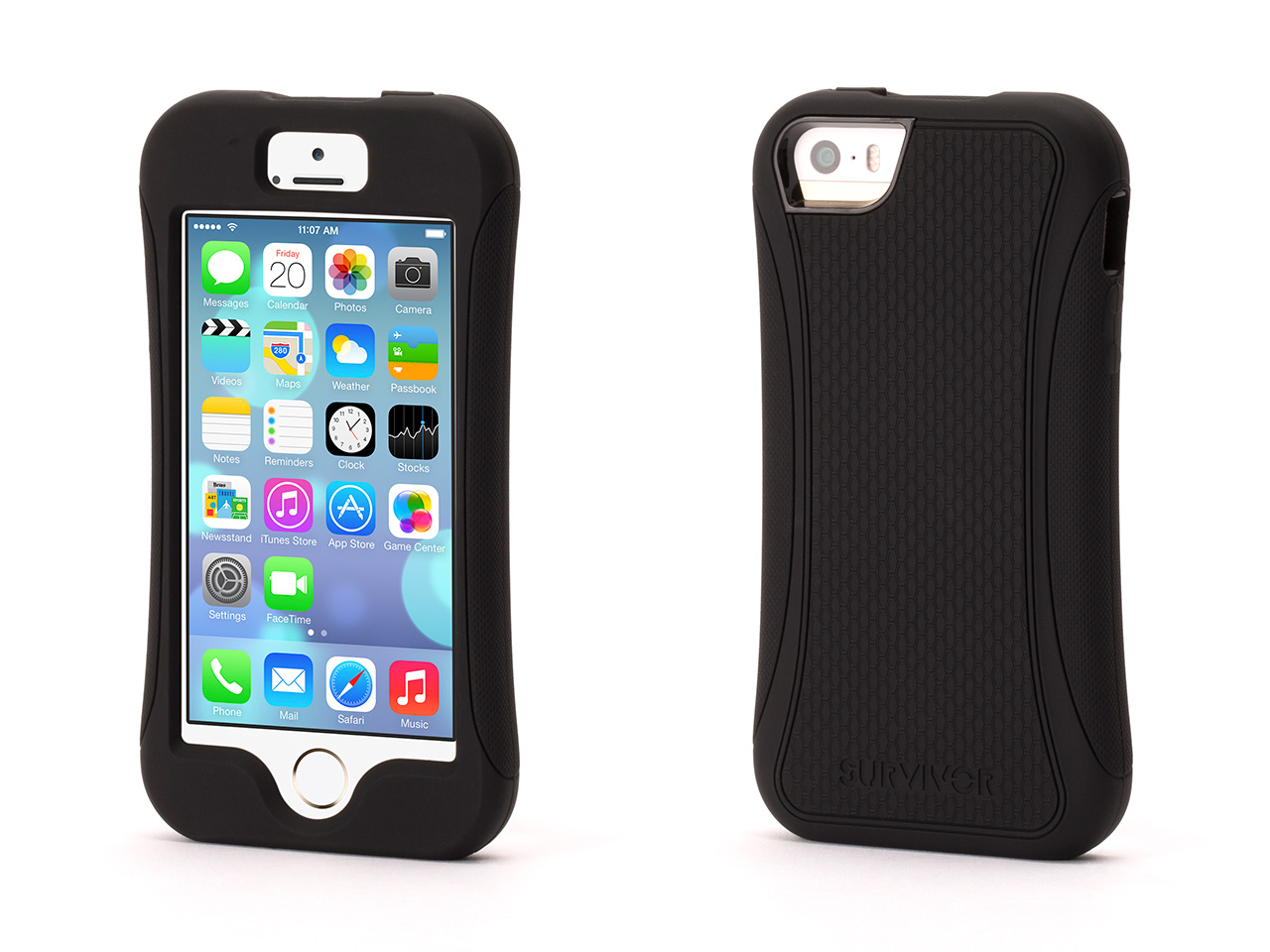 Black Survivor Slim Protective case for iPhone 5/5s