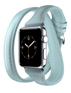 Apple Watch 38mm Leather Band Uptown Double-Wrap Band Mint