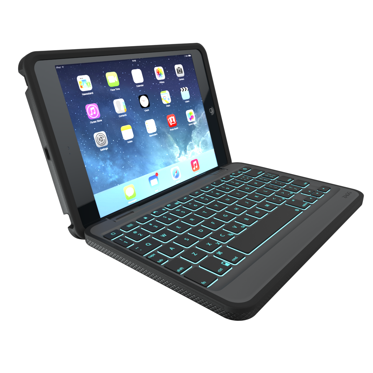 Rugged Book Case with Keyboard for the Apple iPad mini/2/3