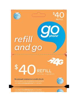 $40 GoPhone Refill Card