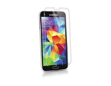 BodyGuardz Pure Tempered Glass Screen Protector with Express Align - Samsung Galaxy S 5