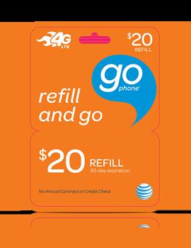 $20 GoPhone Refill Card