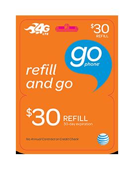 $30 GoPhone Refill Card