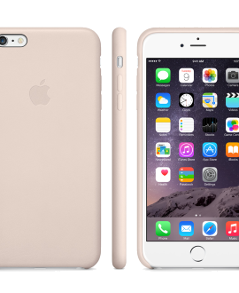 iPhone 6 Plus Leather Case - Soft Pink
