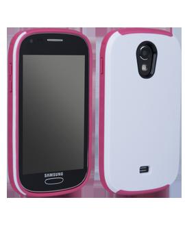 Samsung Galaxy Light Ridge Protective Cover - White & Pink
