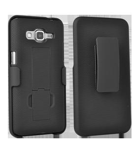 Samsung GALAXY GRAND Prime Kickstand Shell with Holster - Black
