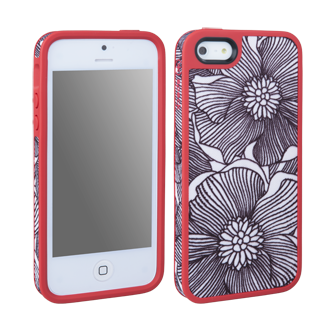 iPhone 5 Speck FabShell Bloom - Black & Coral